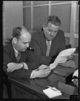 Philip G. Phillips and Towne J. Nylander consult, Los Angeles, 1935