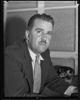 Towne J. Nylander takes action against complaints filed against himself, Los Angeles, 1935