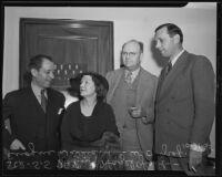 S. S. Hahn, Hazel Glab, Eugene Williams, and W. O. Graf