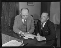 Deputy District Attorney Eugene Williams and Freed Steeger, Los Angeles, 1935