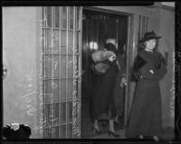 Mrs. Clara Steeger and Mrs. Hazel Glab go to jail, Los Angeles, 1935