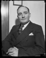 William R. McIntyre during the Hazel Glab murder trial, Los Angeles, 1936