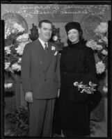 Jeremiah D. Maguire weds Gertrude Orcutt Guasti, Los Angeles, 1935