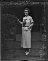 Charlotte Mayfield Weeden, soon to wed Commander Herbert V. Wiley, Los Angeles, 1935