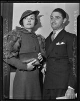Geneva Mitchell and Morry Cohn seek money from the Sherman estate, Los Angeles, 1935