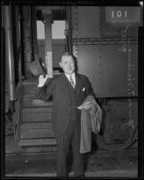 Grand Exalted Ruler of the Elks Judge James T. Hallinan, Los Angeles, 1935