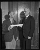 Judge William P. James and Judge Leon R. Yankwich, Los Angeles, 1935