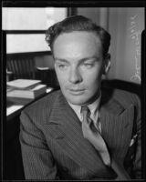 English actor John Wood, Los Angeles, 1935