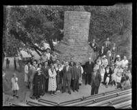 University of Iowa Alumni Association picnic at Griffith Park, Los Angeles, 1935