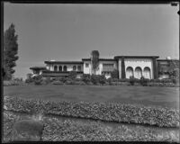 George A. Hormel's home in Beverly Hills after a robbery, Los Angeles, 1935