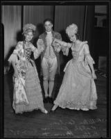 Helen Carlson, Ralph Renner, and Betty Stewart strike a pose in their Constitution Day costumes, Los Angeles, 1935