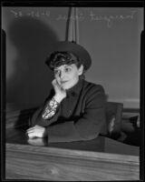 Margaret Lowe granted divorce, Los Angeles, 1935