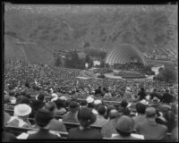 Audience view of Eleanor Roosevelt's address at the Hollywood Bowl, Los Angeles, 1935