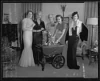 Members of the Women's Breakfast Bridge Club at the home of Exa Browning Link, Santa Monica, 1935