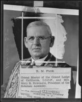 R. M. Funk is to play key figure in convention, Anaheim, 1935
