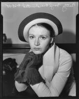 Betty Boyd, film actress, Los Angeles, 1935