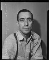 Ernest A. Thompson, arrested in Vice Raid, Los Angeles, 1935