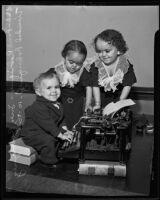 Paul, Inez, and Trinidad Rodriguez , Los Angeles, 1935