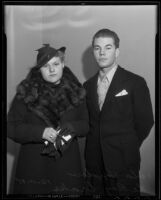 Thomas LeRoy Drake and his date Vula Hayden, Long Beach, 1935