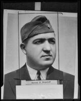 Barney H. Nemeroff, new Commander of the Jewish War Veterans' post, Los Angeles, 1935