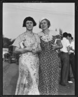 Isabel Stewart Way and Anita Stewart at American Fiction Guild meeting, Monrovia, 1935