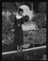 Radio contest winner Marclover Schneider at the California Pacific International Exposition, San Diego, 1935