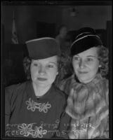 Lucille Fisher Zavitz obtains a divorce from her husband with the help of Enid Earley, Los Angeles, 1935