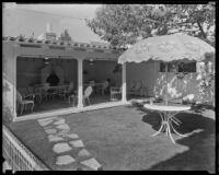 Arthur F. Brough's outdoor living room, Beverly Hills, 1935