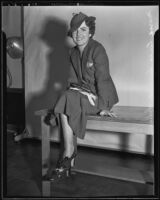 Marie Luisa Sierra de Scherer, Los Angeles, 1935