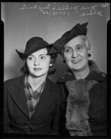 Daughter Jane Jackie and mother, actress Anita Young, 1935
