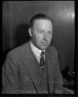 Portrait of Dr. Einar Rietz at Los Angeles General Hospital, Los Angeles, 1935