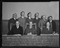 California Code Commission meets to set body's agenda, Los Angeles, 1935