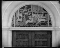 Muralist Millard Sheets' pastoral fresco at Groman Mortuary chapel, Los Angeles, 1935