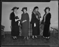 U.S. naval wives honored at luncheon by Chamber of Commerce, Ambassador Hotel, 1935