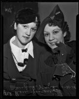 Sisters Rose Guarasci and Angelina Gaurasci Kyrk, Los Angeles, 1935