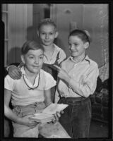 Boys Ray Palomaa and Sam Hewitt who got help for their friend Eugene Wiggins, Los Angeles, 1935