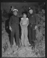 Captain Owen J. Stroud, Eugene Wiggins, and Officer G.L. Rice, Chavez Ravine (Los Angeles), 1935