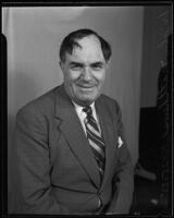 Dr. John Matthews, First Radio Church of the World minister, in portrait photo, Los Angeles, 1935