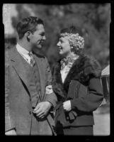 Gordon Jones and Lucile Van Winkle, engaged to be married, Los Angeles, 1935