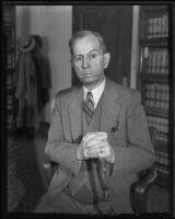 Emmett Dalton, witness in court, Los Angeles, 1935