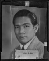 Amado E. Dino is to attend the Los Angeles inaugural program for the Philippine Commonwealth, Los Angeles, 1935