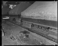 Cement runways underneath Commercial Exchange Building, Los Angeles, between 1935 and 1936