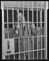 H. H. Van Loan smiling in jail, Los Angeles, 1934