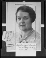 Rose L. Benedict of the Ebell Club (copy), Los Angeles, 1935