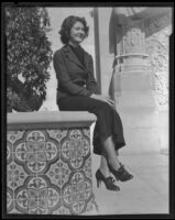 """Barbara Watson, former """"Miss Exposition"""" at the California Pacific International Exposition, San Diego, 1935"""