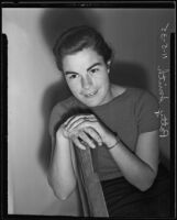 Patty Smith, president of women's sophomore class at Occidental College, Los Angeles, 1935