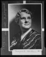 Mayme E. Bonham, president of International Zonta Clubs (copy), Los Angeles, 1935