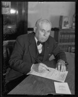 Judge Edmund Nichols announced president of Iowa Society, Los Angeles, 1935
