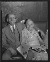 James K. Spencer and Sarah M. Spencer celebrating 68 years of togetherness, Los Angeles, 1935