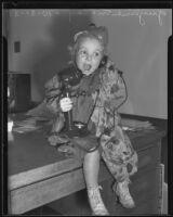 Guyline McCoy, lost child on Halloween, Los Angeles, 1935